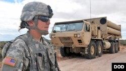 미군의 고고도 미사일 방어체계 사드(THAAD) 발사대. 미 국방부 제공 사진.