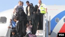 Qaxootiga laga soo daadgureeyay Yemen
