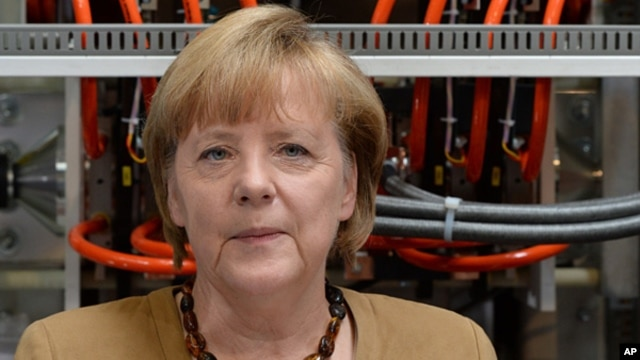 German Chancellor Angela Merkel in Berlin, July 8, 2013.