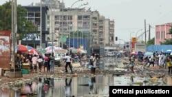 Luanda após as chuvas de Novembro (foto Novo Jornal)
