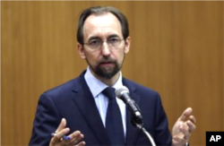 FILE - U.N. High Commissioner for Human Rights Zeid Ra'ad Al Hussein .