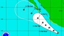توفان دريايی «دورا» بسوی سواحل مکزيک در حرکت است