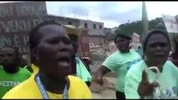 Ayiti: Plizyè Moun Manifeste pou Mande Ekzekitif la Sonje Nòdwès nan Plan yo