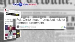 VOA60 Elections - CNN: Polls show growing lead nationally for Hillary Clinton