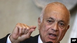 Arab League chief Nabil Elaraby (file photo)