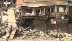 Gazze'de enkaz toplama çabaları