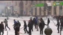 2014-01-22 美國之音視頻新聞: 烏克蘭抗議者與警方衝突 據報三人喪生