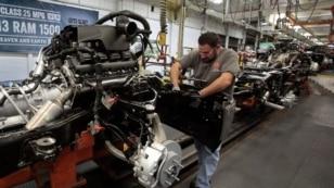 Suasana di pabrik mobil Fiat di Michigan.