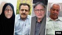 از راست: هاشم خواستار، محمد نوریزاد، محمدحسین سپهری، و فاطمه سپهری