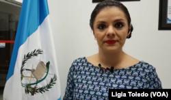 Alejandra Mendoza, directora de Comunicación de la Dirección General de Migración de Guatemala.