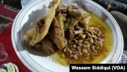افغانستان کی روایتی ڈش ۔۔۔ نمکین گوشت