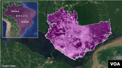 Bản đồ Manaus, Brazil.