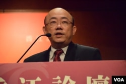 台灣民進黨前立法委員郭正亮表示,「一中」有統一的預設前提,很多台灣人持保留的意見。(美國之音湯惠芸)