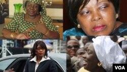 Des anciennes Premières ministres africaines et l'actuelle Première ministre de la Namibie, Saara Kuugongelwa-Amadhila, en bas à gauche (montage photo).