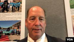 美國佛羅里達州共和黨聯邦眾議員約霍2020年7月28日接受美國之音提問時談《防止台灣遭侵略法》(美國之音鍾辰芳拍攝)