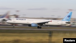 Máy bay Airbus A321 của Metrojet với số đăng bạ EI-ETJ, bị rơi ở Bán đảo Sinai của Ai Cập, cất cánh từ sân bay Domodedovo của Moscow.