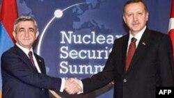 Baş Nazir Ərdoğan prezident Sarkisyanla görüşdü