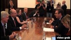 Sastanak kongresmena Teda Poa sa predsednikom Srbije Aleksandrom Vucicem u Beogradu