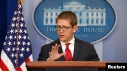 白宫发言人卡尼在星期三的记者会上