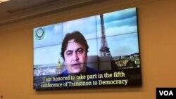 پخش پیام ویدئویی زم در یک کنفرانس - آرشیو