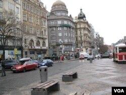 布拉格市中心。