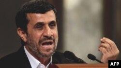 Махмуд Ахмадинежад выступает в Гаванском университете. 11 января 2012г.
