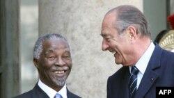 Jacques Chirac et Thabo Mbeki, le 12 avril 2007.