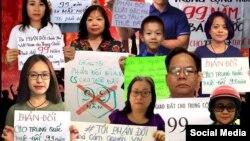 Hình ảnh kêu gọi biểu tình phản đối Dự luật Đặc khu ngày 10/6/2018 của Nhóm Nhật ký Yêu nước. (Facebook Nhật ký Yêu nước)