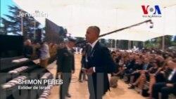Sentidas palabras de Obama en funeral de Shimon Peres
