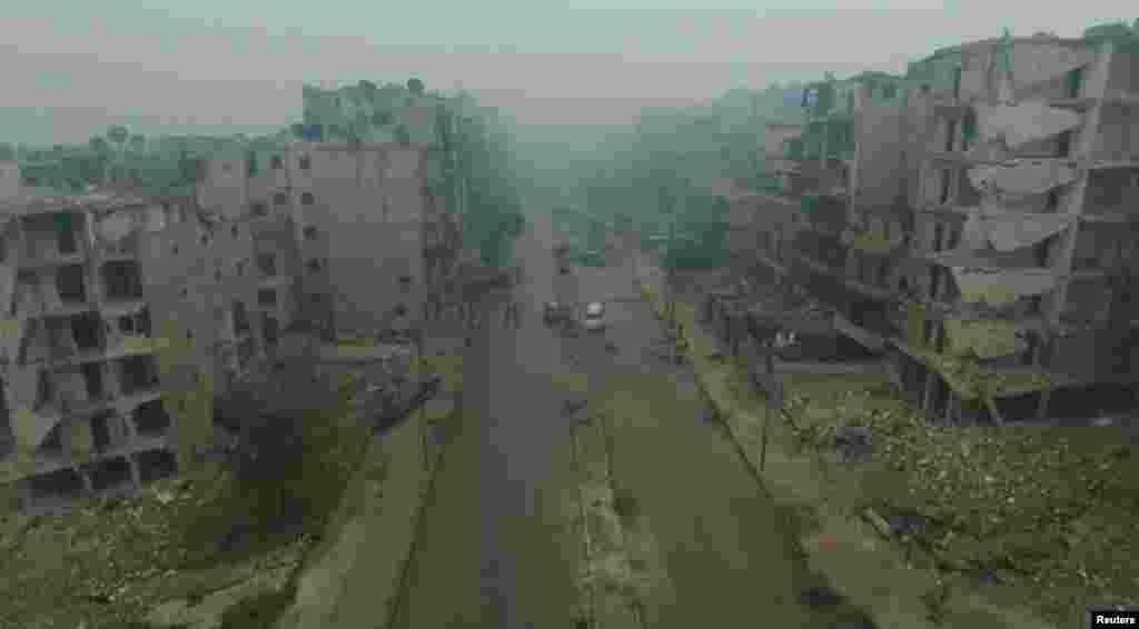 این روزها زیاد از شرق حلب می شنوید. پنج سال جنگ ببینید چه بر سر شهر آورده است.