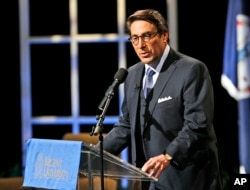 "FILE: Jay Sekulow, part of President Donald Trump's outside legal team, says the lawyers ""will consistently evaluate the issue of conflicts [of interest within special counsel Robert Mueller's investigative team] and raise them in the appropriate venue."""
