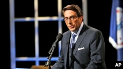 FILE - Jay Sekulow, one of President Donald Trump's lawyers, seen here at Regent University in Virginia Beach, Virginia, Oct. 23, 2015, says Trump is not under investigation