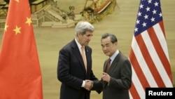 Встреча Джона Керри и Ван И. Пекин, Китай, 27 января 2016.