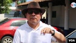 El periodista nicaragüense y aspirante a la presidencia Miguel Mora es uno de los acusados por la Fiscalía de compartir tuits. Foto Houston Castillo - VOA.