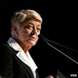 Ansyèn kandidat pou pòs vis-prezidan Pati Demokrat la, Geraldine Ferraro. AP, Foto achiv