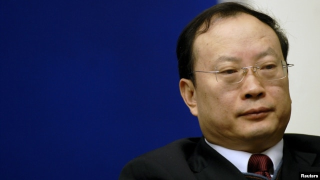 FILE - Wang Baoan attends a news conference in Beijing, China, in this Jan. 13, 2010 file photo. The head of China's Statistics Bureau is being investigated for alleged discipline violation, the ruling Communist Party's anti-corruption watchdog said on Jan. 26, 2016.