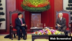 Tổng Bí thư Nguyễn Phú Trọng tiếp Bộ Trưởng Công an Trung Quốc Triệu Khắc Chí, ngày 19/2/2021. Photo CAND.
