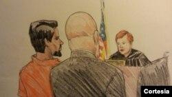 Mohammed Hamzah Khan, devant une cour de Chicago le 6 octobre