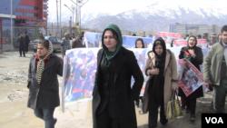 د افغان نجونو د کرکټ د لوبډلې اعتراضیه مظاهره