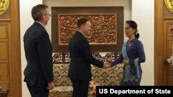 Pottinger and Aung Suu Kyi. (June 16, 2018)
