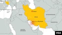 Trận động đất xảy ra gần nhà máy điện hạt nhân Bushehr