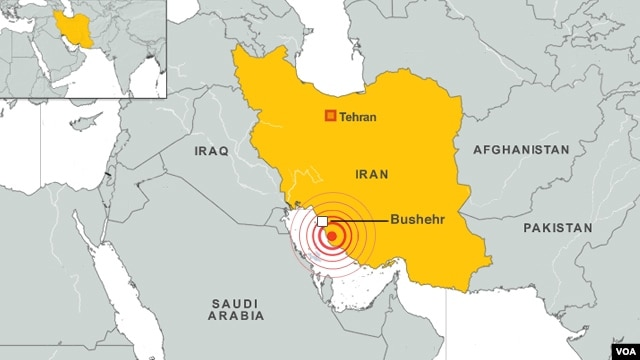A 6.3 magnitude earthquake struck Iran near the Bushehr nuclear power station, the US Geological Survey (USGS) says.