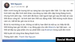 Trang Facebook gốc của Will Nguyễn, 30/7/2018.