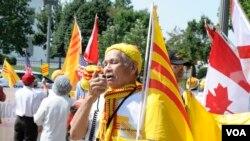 Biểu tình phản đối ông Trương Tấn Sang đến Hoa Kỳ