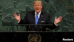 Tổng thống Mỹ Donald Trump phát biểu tại Đại hội đồng Liên Hiệp Quốc hôm 20/9.