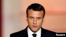 Le nouveau président français Emmanuel Macron à Paris, 14 ami 2017.
