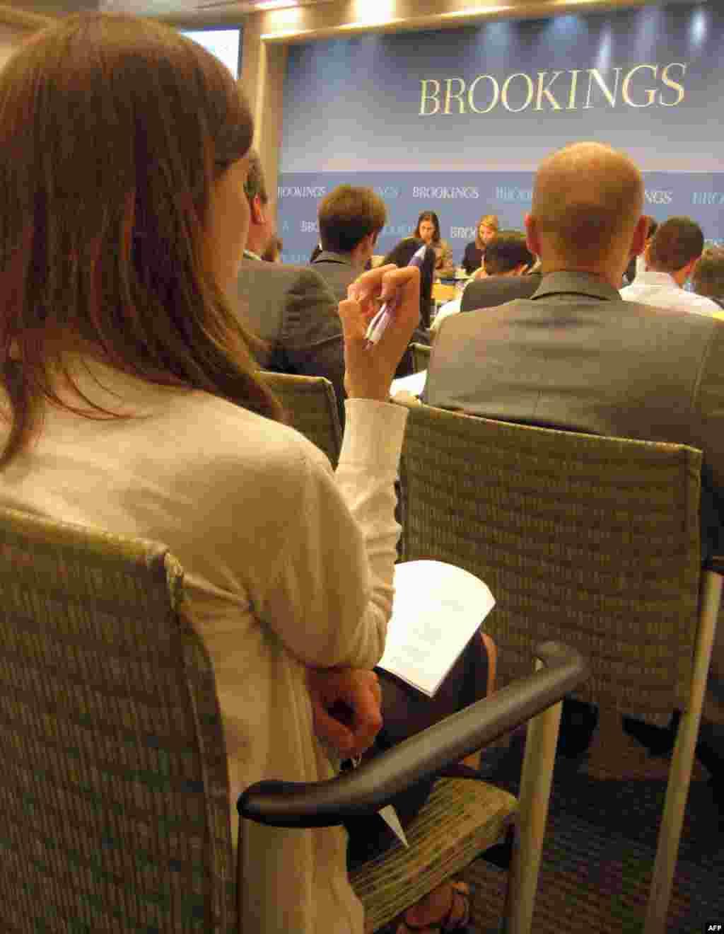 Дискусія у вашингтонському Інституті Брукінґса; фото - Ярини Климчак.