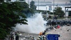 香港警方向反送中示威者發射橡膠子彈催淚煙 民陣強烈譴責