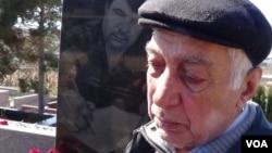 Sabir Hüseynov oğlu Elmar Hüseynov qəbri başında