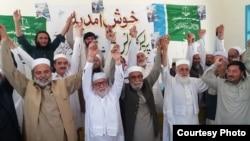 جماعت اسلامی پاکستان کے امیدوار پریس کانفرنس کے بعد